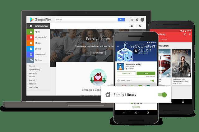 جوجل بلاي و المشاركة العائلية للمشتريات