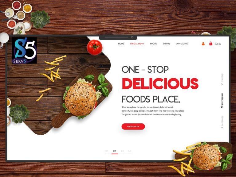 تصميم موقع الكتروني لمطعم